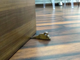 JaamsoRoyals Mouse Design Small Non-Slip wooden Door Stoppers - To Stop Or Jam the Doors