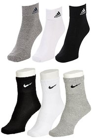 Adidas and Nike Pack of 6 Ankle Socks