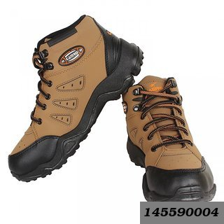 Mens Brown & Black Lace-up Casual Shoes