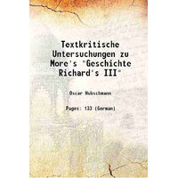 Textkritische Untersuchungen zu More's