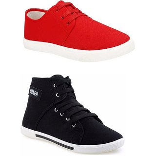 Aura Multicolor Canvas Casual Shoes Combo Of 2