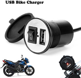 CloudD Attractive Offer World Motorcycle Bike Mobile Phone USB Charger 12V Waterproof Universal - Random Color