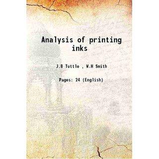 Analysis of printing inks 1914