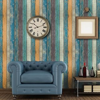 JAAMSO ROYALS Peel and Stick PVC Brick Design Self-Adhesive Multicolor Wallpaper (100 X 45 CM i.e 4.5 Sq FT ) 1 PC