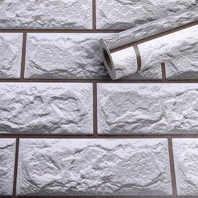 Jaamso Royals Vinyl Brick Stone Peel and Stick Self Adhesive Wallpaper