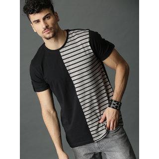 Axxitude Men's Black & Grey Round Neck T-Shirt