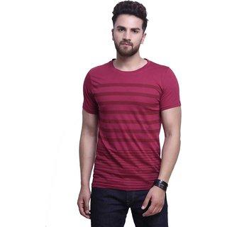 Axxitude Men's Maroon Round Neck T-Shirt
