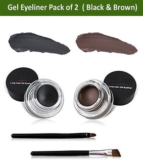Miss Rose Long Last  24 HOURS Gel Eyeliner 2 in 1 Black and Brown