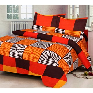 Home Castle Super Soft Polycotton Double Bedsheet With 2 Pillow Covers (PC-DBL-3D258)