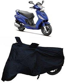 De-AutoCare Premium Quality Durable Black Matty Two Wheeler Dustproof Body Cover For Hero Maestro With Mirror Pockets