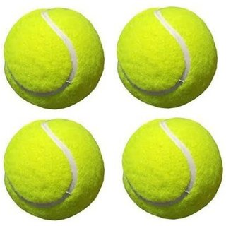 SPORTS SUPER CRICKET TENNIS BALL (PACK OF 4) (COLOR MAY VERY)