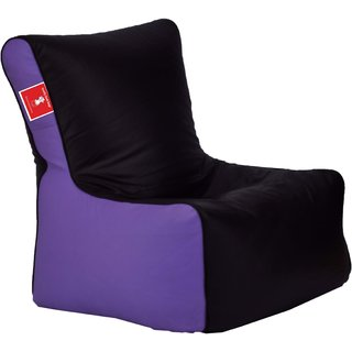 ComfyBean - Clemenzo - Bean Chair - Size Kids - Filled With Beans Filler Black Lavender