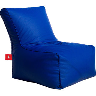 ComfyBean - Clemenzo - Bean Chair - Size Kids - Filled With Beans Filler Blue