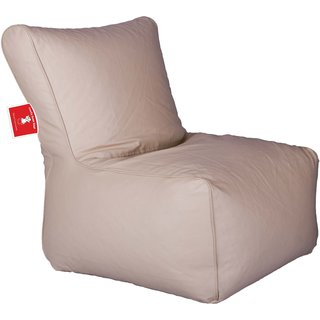 ComfyBean - Clemenzo - Bean Chair - Size Kids - Filled With Beans Filler Biege
