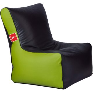 ComfyBean - Clemenzo - Bean Chair - Size Kids - Filled With Beans Filler Black Pea Green
