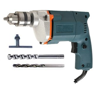 Tiger 10mm 350W Drill Machine with 2 High Quality Drill Bits