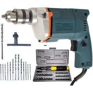 Tiger 10mm 350W Electric Corded Drill Machine with Bits