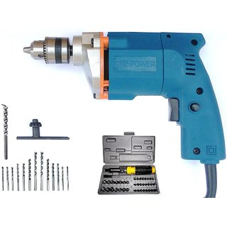 Dee Power 10mm 350W Electric Corded Drill Machine with Bits