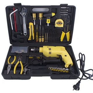 Buildskill 13Mm 350W Impact Drill Machine Tool Kit With Reversible Function + 101 Accessories