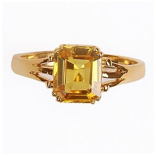 Astrological Stone Pukhraj Ring Original  Certified Stone Yellow Sapphire Ring BY CEYLONMINE