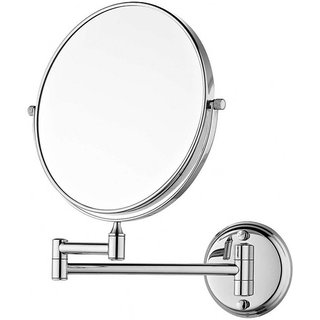 Kurvz makeup and Shaving Mirror With Flexible Stand For Wall Mounted / Double Sided Magnifying Mirror