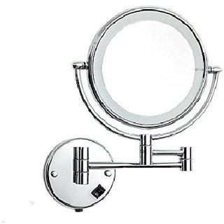 Kurvz Extending LED Light Magnifying Make up & shaving Mirror 8X8 Inch round
