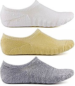 DDH 100 Terry Cotton Loafer Socks,Ankle Socks For Men and Women (3 Pairs)