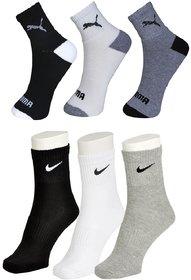 Nike Puma Ankle Socks - Pack of 6