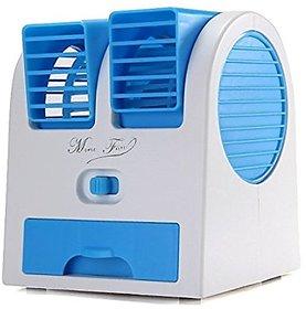 Mini Fan Cooling Portable Desktop Dual Bladeless water Air Cooler USB