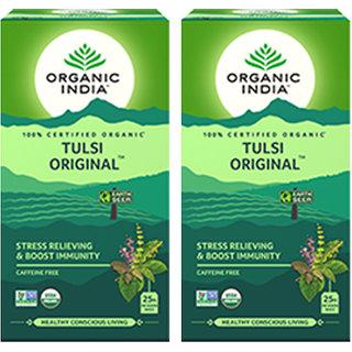 Organic India Tulsi Original 25 Tea Bag- (Pack Of 2)