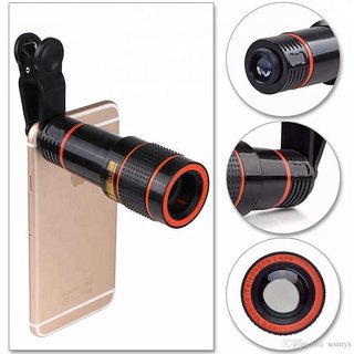 KSJ 8X Zoom Mobile Phone Telescope Lens with Adjustable Clip