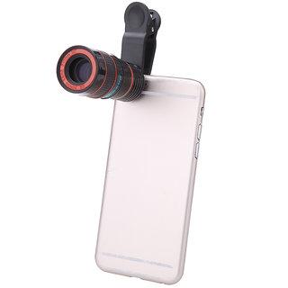 KSJ 8X Zoom Mobile Phone Telescope Lens with Adjustable Clip