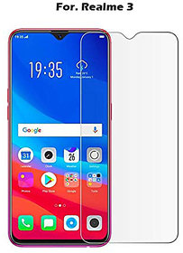 Realme 3 - Flexible Premium Quality 2.5D Tempered Glass 9H Hardness Screen Protector for Realme 3