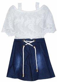 Clobay dress with denim skirt for Girls