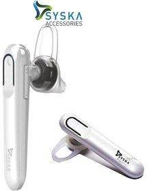 Syska LB300 Bluetooth Headset WHITE