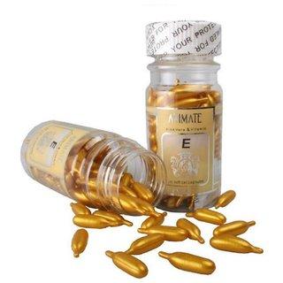 Profession Vitamin E Facial (Golden) 60 Capsules Oil  (60 g) for Women Set of 1