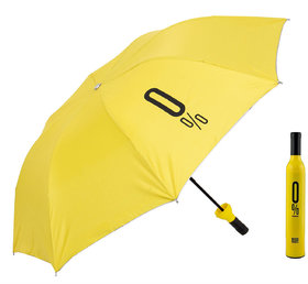 Home Story Fashionable Wine Bottle Yellow 110 cm Travel Umbrella