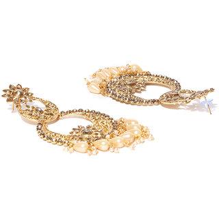 40444070b Zaveri Pearls Bollywood Inspired Gold Tone Traditional Chandbali  Earring-ZPFK6835