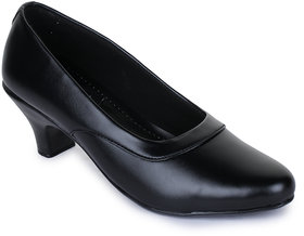 Walkfree Black Formal Shoes