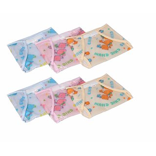 PrettyKrafts Baby Waterproof Reusable Nappies Pack of 6 (Multi Color)