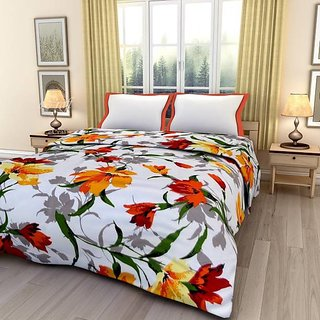 Flower Digital Printed Micra Reversible Single Bed AC Dohar