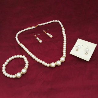 Meia Gold Plated Pearl Jewellery Set