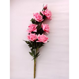 S N ENTERPRISES SNE4365 PINK ROSE ARTIFICIAL FLOWER BUNCH