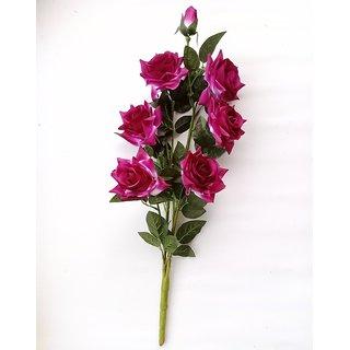 S N ENTERPRISES SNE4365 PURPLE ROSE ARTIFICIAL FLOWER BUNCH