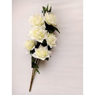 S N ENTERPRISES SNE4365 WHITE ROSE ARTIFICIAL FLOWER BUNCH