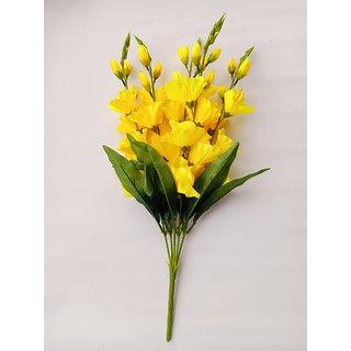 S N ENTERPRISES SNE4604 YELLOW GLADIOLUS ARTIFICIAL FLOWER BUNCH