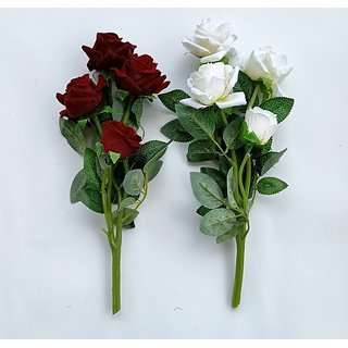 S N ENTERPRISES SNE4842 ASSORTED ROSE ARTIFICIAL FLOWER STICK (PACK OF 2)