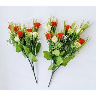 S N ENTERPRISES SNE5092 RED TULIPS ARTIFICIAL FLOWER BUNCH (PACK OF 2)