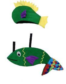 PINK APRICOT Water aquatic animal Green fish costumestage showsannual functionspartycompetition dress.