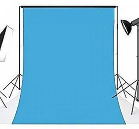 Cam Cart 8x12 Feet Backdrop Photography Background Sky Blue ( Stand Not included )